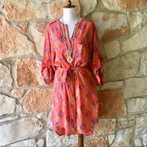 Chelsea & Violet Coral Shirt Dress